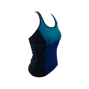 contrast color assembled yoga tank